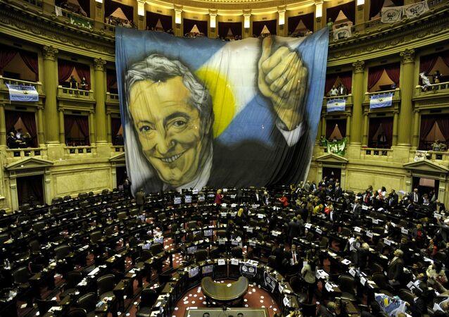 El retrato de Néstor Kirchner (archivo)