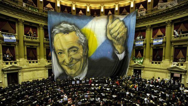 El retrato de Néstor Kirchner (archivo) - Sputnik Mundo