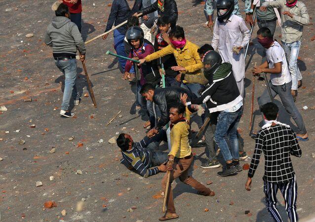 Los disturbios en Nueva Delhi