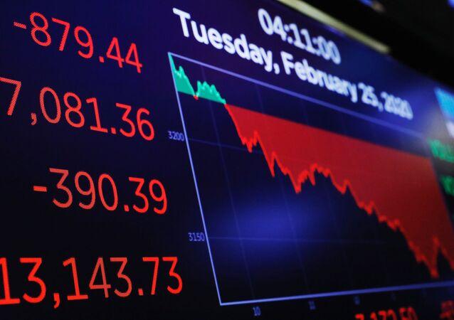 Bolsa de Nueva York, el 25 de febrero de 2020
