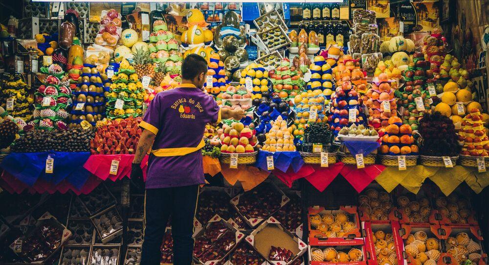 Una tienda de frutas