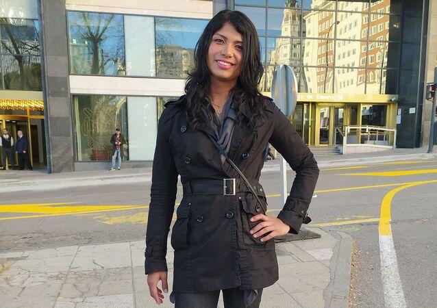 Jeisy Escorcia, transexual colombiana de 28 años, pide asilo en España