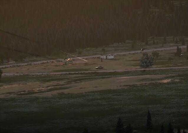 Captura de pantalla del vídeo publicitario del fabricante estadounidense de helicópteros Bell