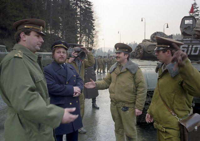 La retirada de las tropas soviéticas de Checoslovaquia en 1990