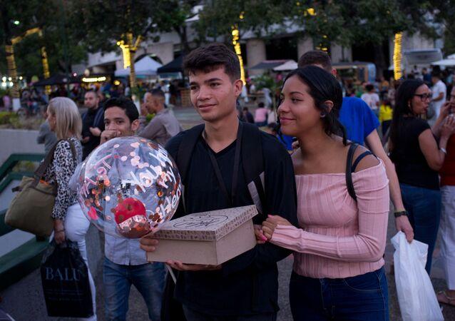 Una pareja en Caracas, Venezuela