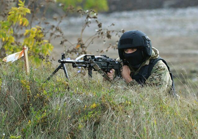 Un francotirador ruso (archivo)
