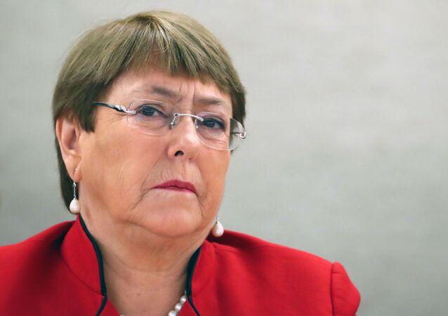 Michelle Bachelet, la  Comisionada de la ONU para los DDHH (archivo)