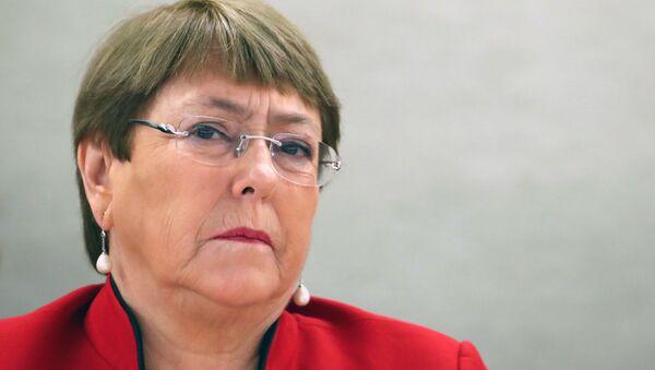 Michelle Bachelet, la Alta Comisionada de la ONU para los DDHH (archivo) - Sputnik Mundo