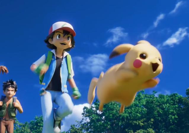 Una captura de pantalla de la nueva película de Pokémon