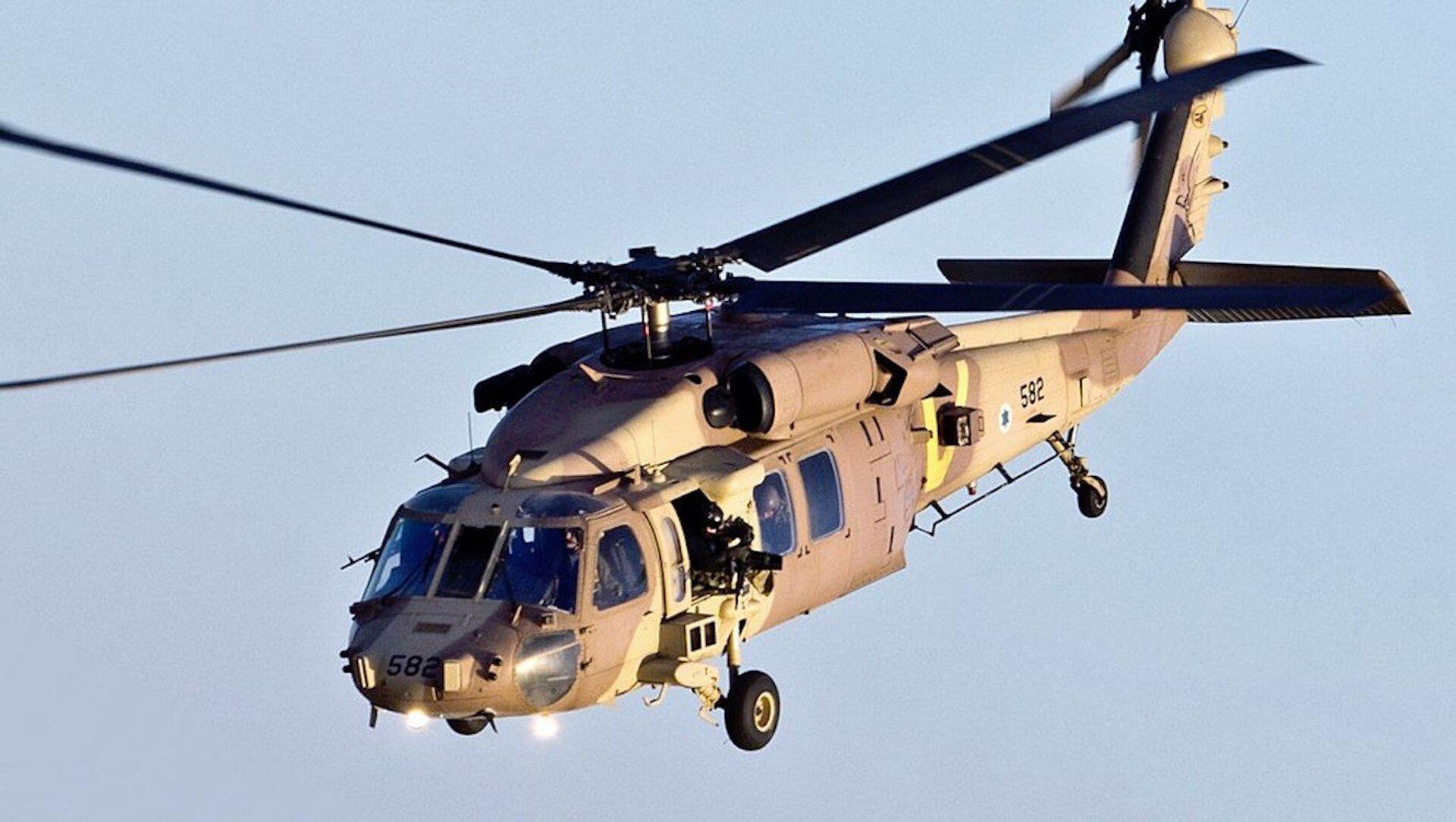 Un helicóptero Sikorsky UH-60 Black Hawk israelí - Sputnik Mundo, 1920, 02.02.2021