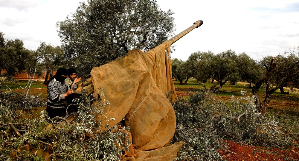 Artillería siria en Idlib