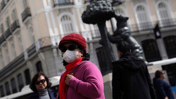 Una turista china en Madrid - Sputnik Mundo