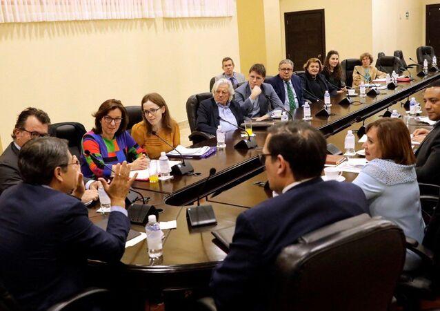 Una delegación del Parlamento Europeo en Honduras