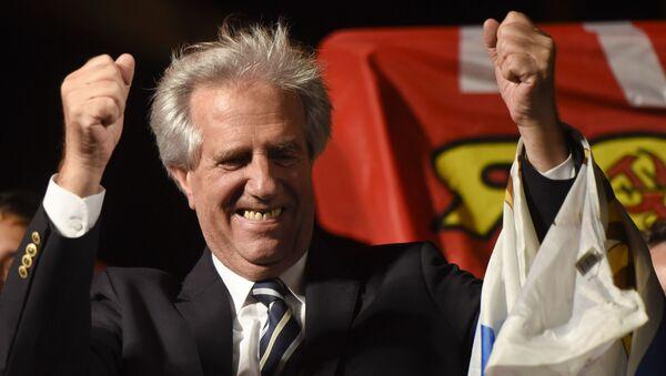 El presidente uruguayo Tabaré Vázquez - Sputnik Mundo