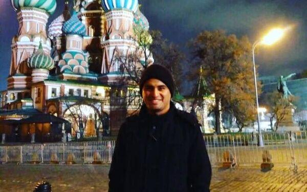 Jorge Chacón Solar en la Plaza Roja en Moscú - Sputnik Mundo