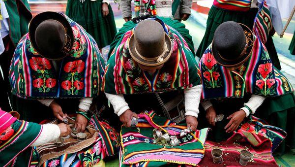 Indígenas bolivianos (imagen referencial) - Sputnik Mundo