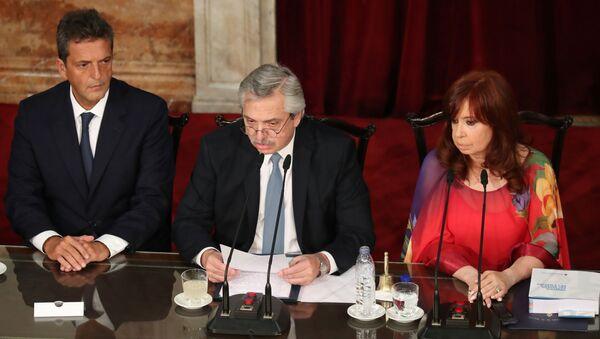 El presidente argentino, Alberto Fernández, y la vicepresidenta Cristina Fernández de Kirchner - Sputnik Mundo