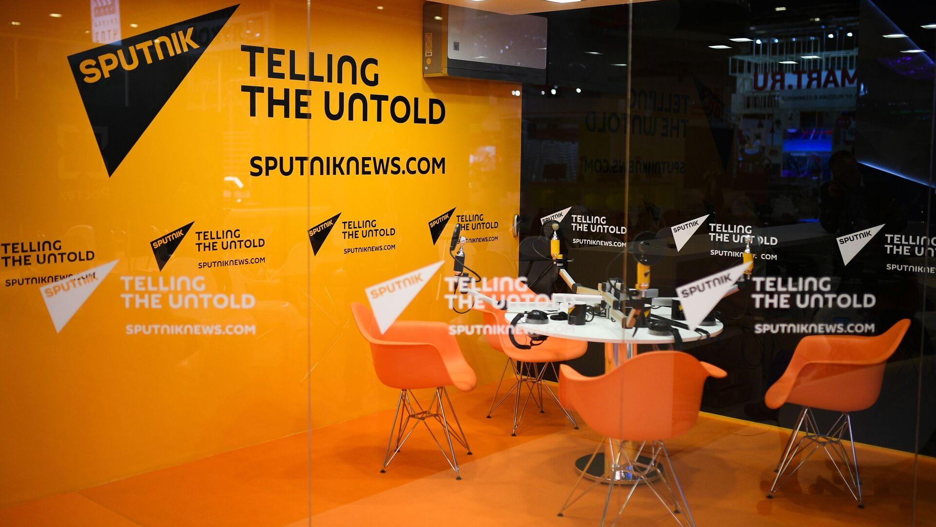 Estudio de radio de agencia Sputnik  - Sputnik Mundo, 1920, 05.04.2021