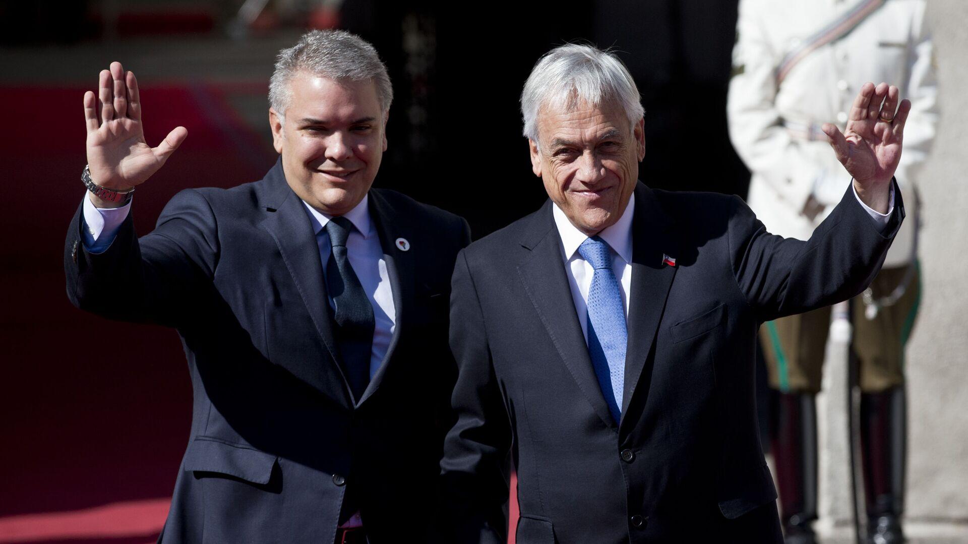 El presidente de Colombia, Iván Duque, y su homólogo chileno, Sebastián Piñera - Sputnik Mundo, 1920, 09.12.2020