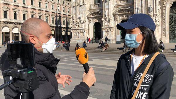 Melody, taiwanesa, turista en Milán - Sputnik Mundo