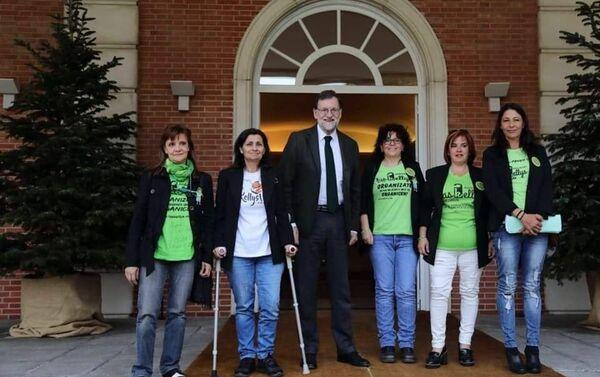 Las Kellys con el ex presidente Mariano Rajoy  - Sputnik Mundo