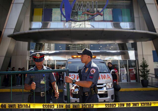 Los agentes de Policía filipina en Manila