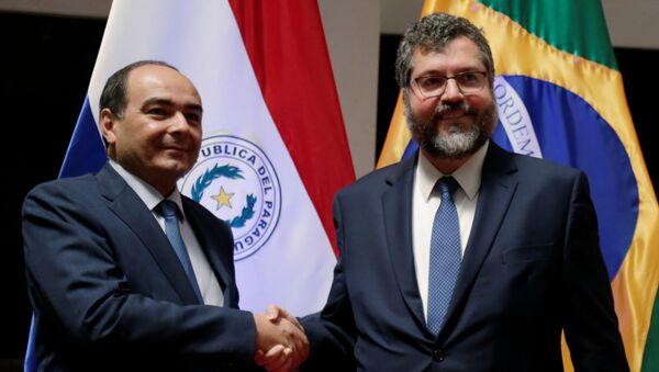 El canciller de Paraguay, Antonio Rivas, y el canciller brasileño, Ernesto Araújo - Sputnik Mundo