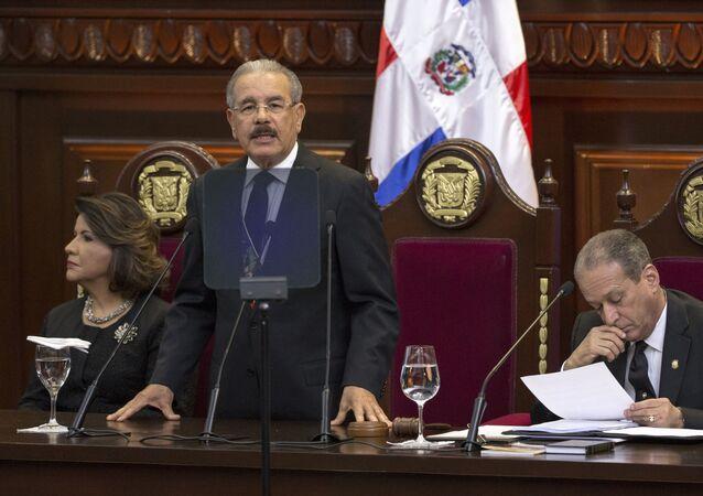El presidente de la República Dominicana, Danilo Medina, en el Parlamento