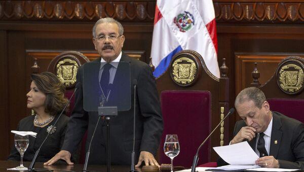 El presidente de la República Dominicana, Danilo Medina, en el Parlamento - Sputnik Mundo
