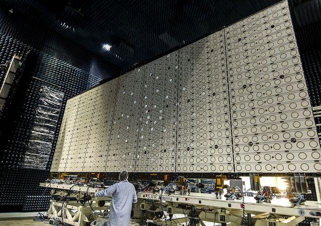 La antena de 10 metros de ancho del SAOCOM 1B