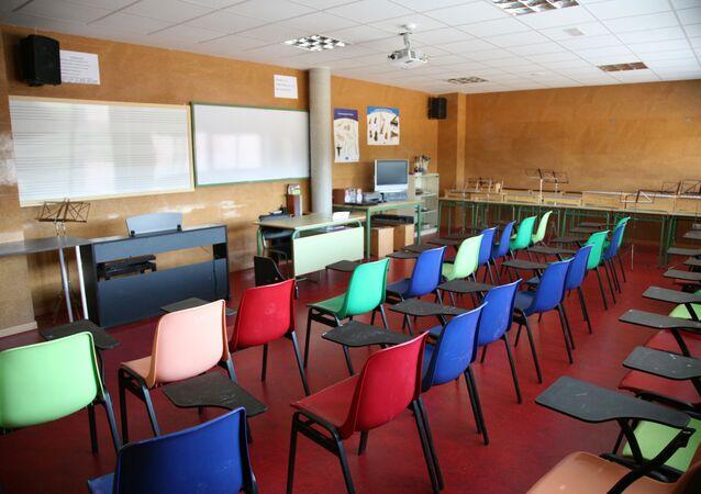 Aula de instituto de Enseñanza Secundaria en España