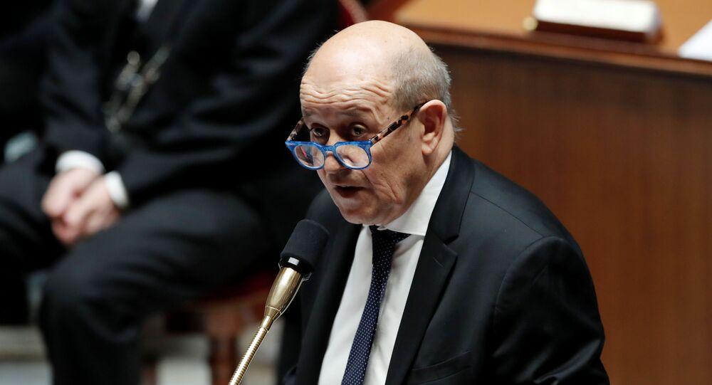 Jean-Yves Le Drian, ministro de Exteriores francés