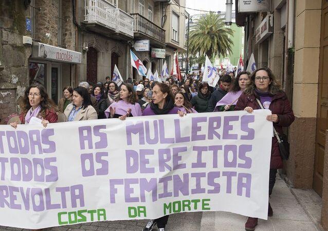 Manifestación del 8 de marzo en Cee (A Coruña)