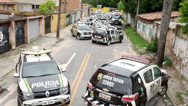 La huelga de los policías militares en Brasil - Sputnik Mundo