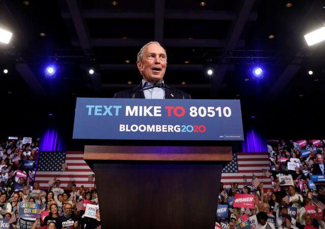 El precandidato presidencial demócrata Michael Bloomberg