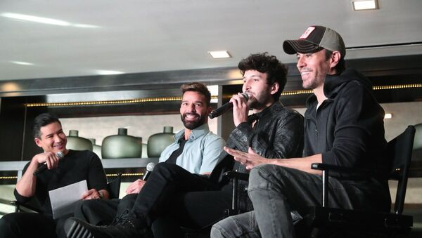 Ricky Martin, Sebastián Yatra y Enrique Iglesias - Sputnik Mundo