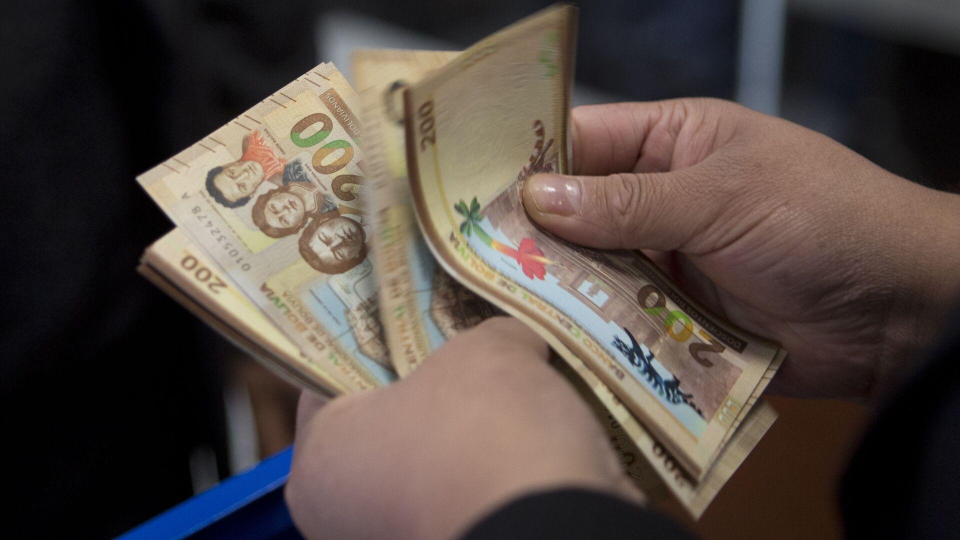 Billetes de 200 bolivianos - Sputnik Mundo, 1920, 30.06.2021