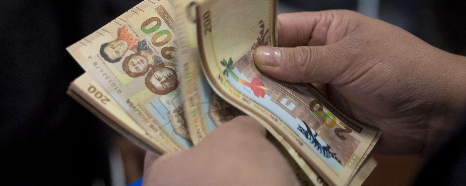Billetes de 200 bolivianos - Sputnik Mundo, 1920, 25.08.2021