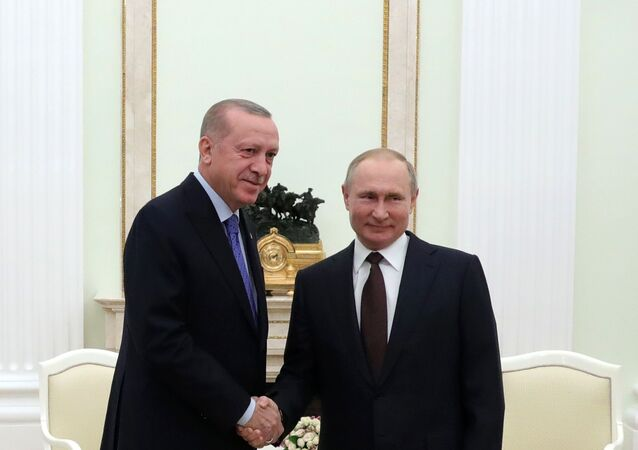El presidente de Turquía,  Recep Tayyip Erdogan, y el presidente ruso, Vladímir Putin