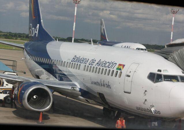 Un avión de la aerolínea Boliviana de Aviación (BOA)