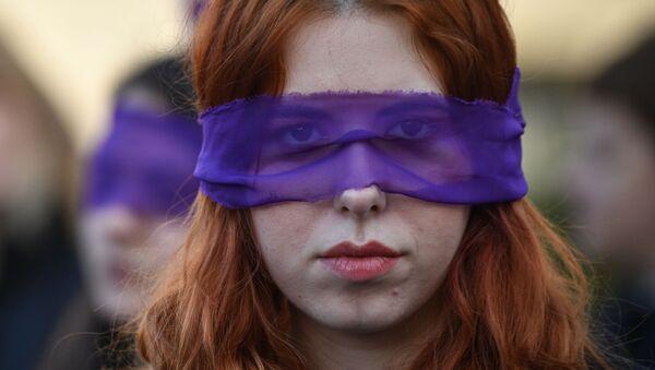 Marcha feminista (imagen referencial) - Sputnik Mundo