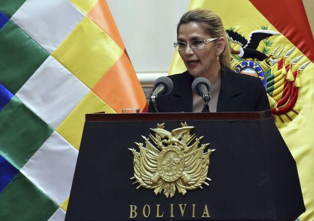 Jeanine Áñez, presidenta transitoria de Bolivia (archivo)
