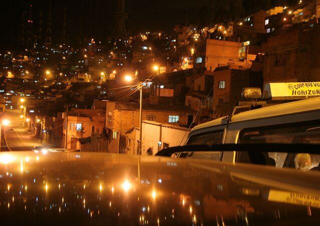 Una vista panorámica de la ciudad de El Alto, Bolivia