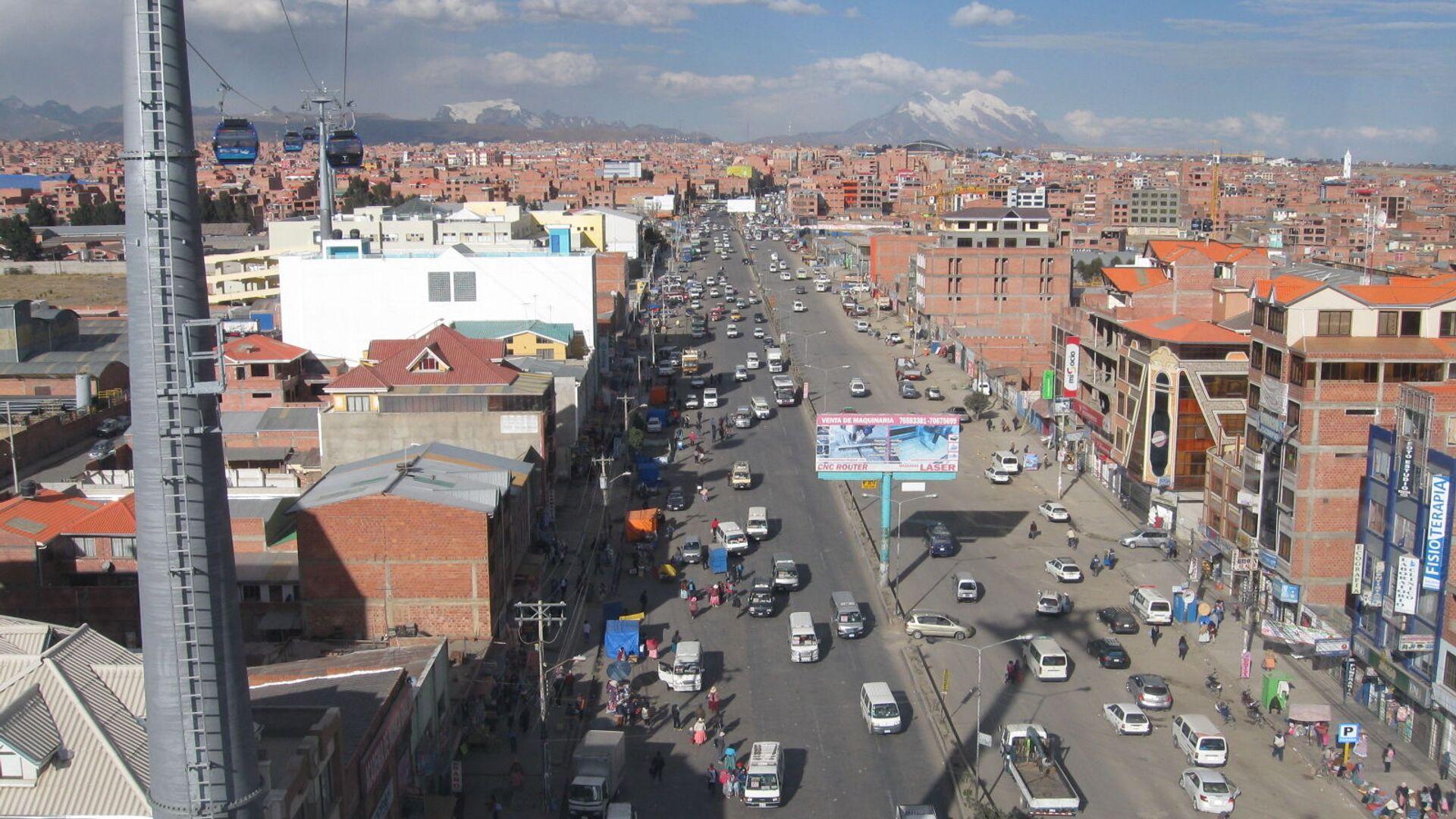 Una vista aérea de El Alto, Bolivia - Sputnik Mundo, 1920, 06.03.2021