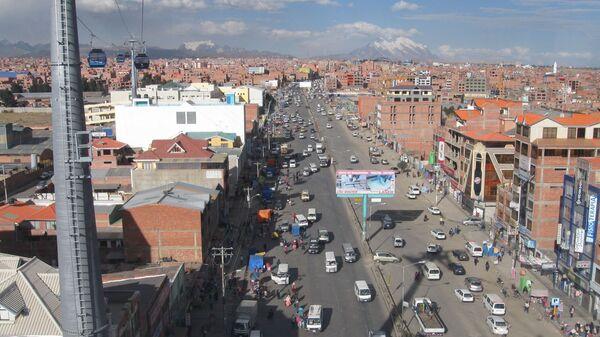 Una vista aérea de El Alto, Bolivia - Sputnik Mundo