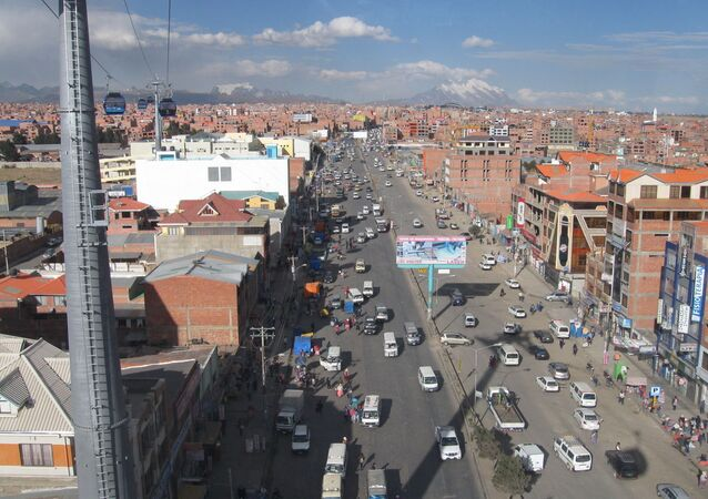 Una vista aérea de El Alto, Bolivia