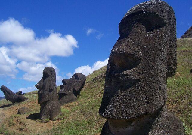 Estatuas moái de la isla de Pascua
