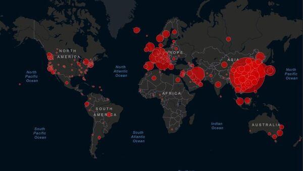 Mapa que muestra la propagación del coronavirus en tiempo real - Sputnik Mundo