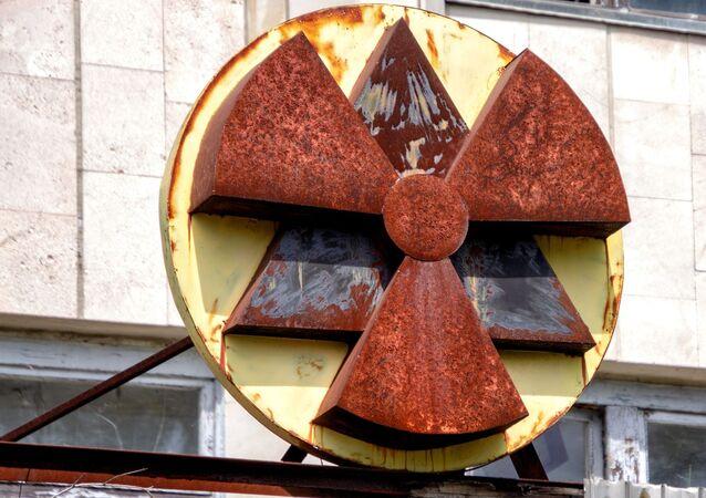 Un signo de radiación (imagen referencial)