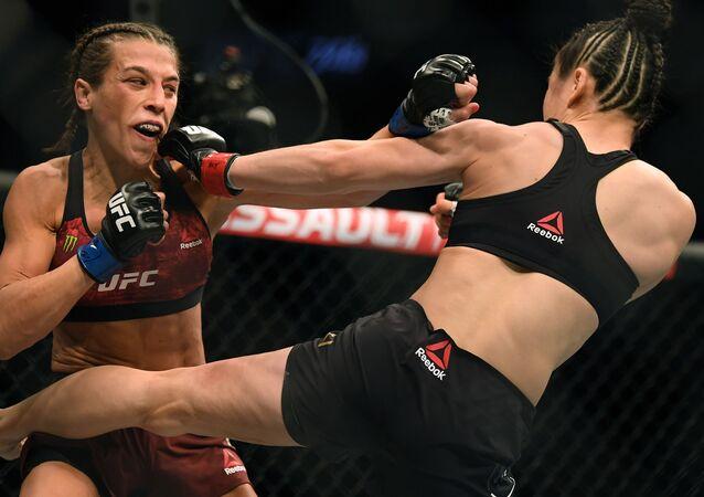 La pelea entre Joanna Jedrzejczyk y Weili Zhang